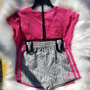 adidas Matching Sets - Adidas Toddler Short Set Girls